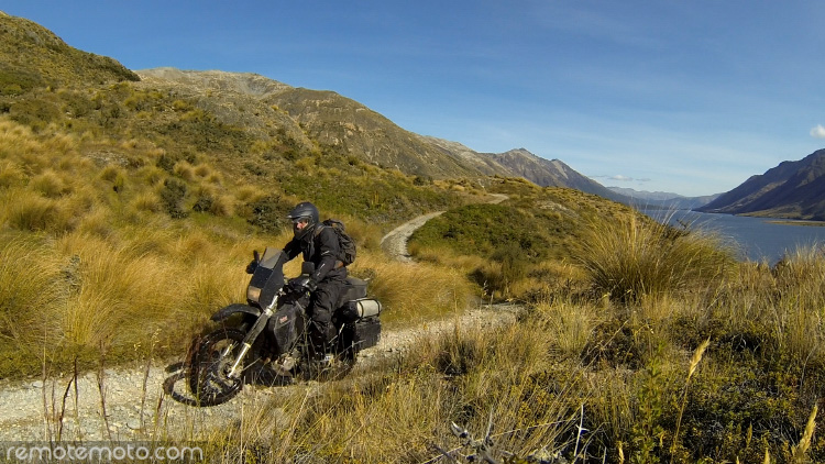 New Zealand's South Island area manager Josh Martin out logging new routes for RemoteMoto